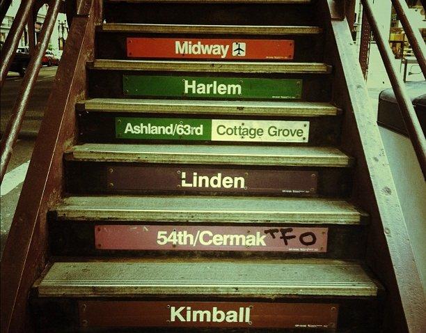 [chicagogram] Going home #midway #harlem #ashland #cottagegrove #linden #cermak #kimball #train #cta #el #madison #wabash #chicago #igerschicago #chicagogram #stairs