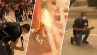 """""""Sentí que me quemó"""": artefacto explota muy cerca de reportero de Telemundo"""