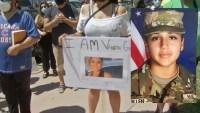 Protestan en Chicago y exigen justicia para Vanessa Guillén
