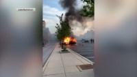 Aurora: prenden fuego a patrulla de la policía tras protestas por George Floyd