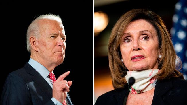 Joe Biden y Nancy Pelosi