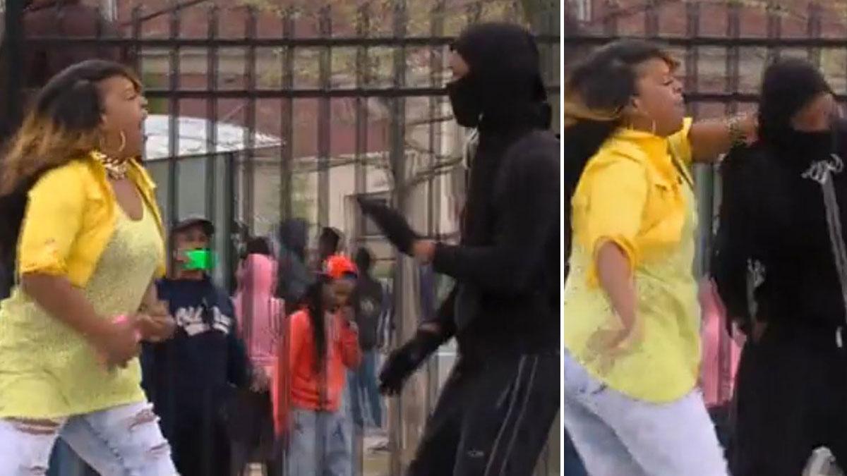 Abofetea A Su Madre Porn video: mujer golpea a enmascarado en baltimore – telemundo