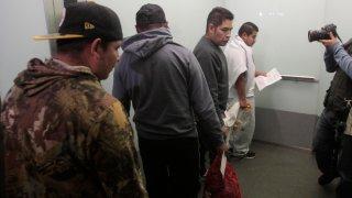 Migrantes hondureños deportados de México