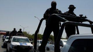 Fuerzas de seguridad en un operativo