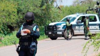 Operativo policial en Guanajuato