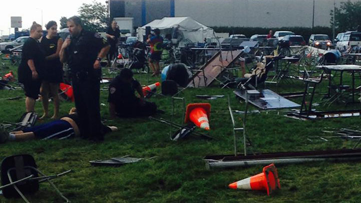 wood dale tent collapse