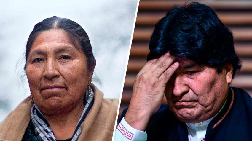 Esther Morales, la hermana mayor del expresidente de Bolivia, Evo Morales.
