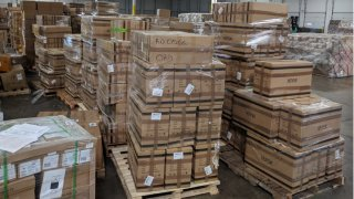 Counterfeit masks seized by customs officials in Chicago