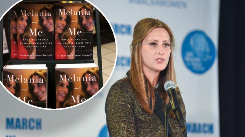 """El libro """"Melania and Me: The Rise and Fall of My Friendship with the First Lady"""" de Stephanie Winston Wolkoff se exhibe en la librería Barnes & Noble en 5th Avenue en Nueva York el 1 de septiembre de 2020"""