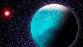 Ilustración del planeta LHS1140 b