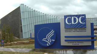 The exterior of the CDC headquarters.