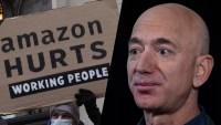 Decenas protestan frente a la residencia de Jeff Bezos, fundador de Amazon y el hombre más rico del mundo