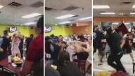 Viral: vuelan sillas durante pelea en taquería