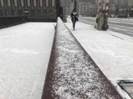 Copitos de nieve e intenso frío se hacen sentir en Chicago