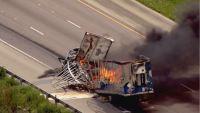 Fatal accidente e incendio en I-55 cerca de Cicero.