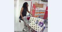 La policia la están buscando como sospechosa de hurto de mercancía.