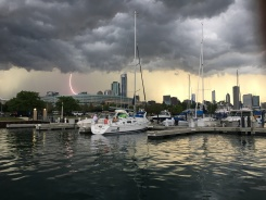 Impresionantes fotos del paso de tormentas por Chicago