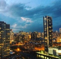 Chicago bajo el azote de una fugaz pero potente tormenta