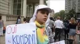 Decenas de mujeres se rebelan a favor del burkini