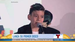 Niño con discapacidad graba disco de duetos