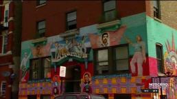 Recrean mural en edificio que albergó Casa Aztlán