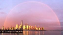 Doble arcoíris sorprende en el cielo de Nueva York