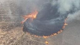 Tornado de fuego y su estela de destrucción en Australia