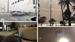 Cae nieve en Las Vegas tras más de una década