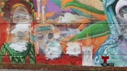 Vandalizan mural de Virgen de Guadalupe