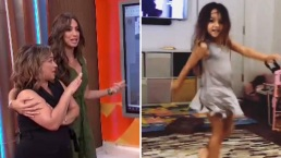 Alaïa imita a su papá y demuestra sus dotes de bailarina