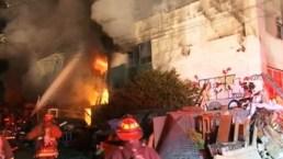Voraz incendio causa nueve muertos