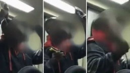 Asqueroso: captan a hombre cortándose el cabello dentro de vagón del metro
