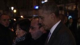 Lo acompaña el presidente francés, Francois Hollande