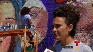 Mural en honor a mujeres en Pilsen