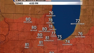 Temperaturas en los 80s con posibles tormentas por la tarde