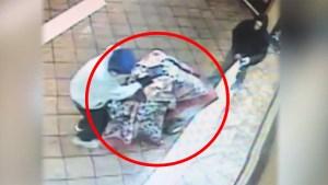 Captado en video: ladrones roban $50,000 con una cobija y carretilla