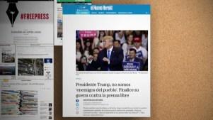 Diarios envían fuerte mensaje al presidente Trump