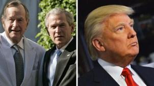 Expresidentes Bush descartan apoyar a Donald Trump