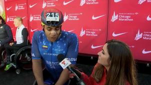 Destacada participación de colombiano en el maratón de Chicago