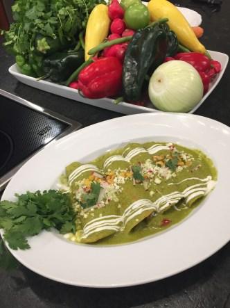 Cocina Telemundo: Enchiladas Verdes Vegetarianas