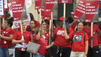 De brazos caídos enfermeros del hospital de la Universidad de Chicago