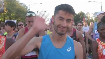 El corredor elite Diego Estrada en la línea de salida