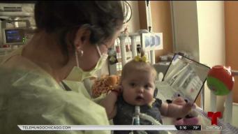 Bebita lucha por salvar su vida