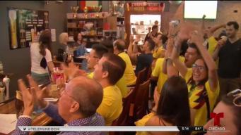 Colombianos en Chicago celebran clasificación
