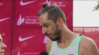 Martín Cuestas: contento tras completar el maratón de Chicago