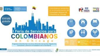 Feria de servicios para colombianos en Chicago