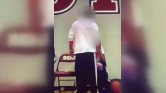 Brutal bofetada a menor queda captada en video