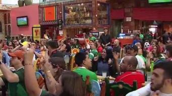 Fanáticos del Tri celebran derrota del campeón mundial en Chicago