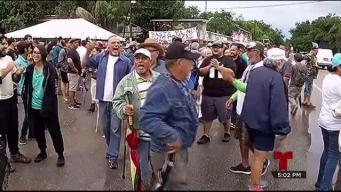 Manifestantes firmes contra depósito de cenizas