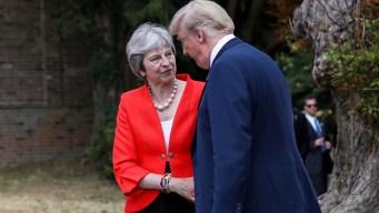 Trump habría dicho a May que demande a la Unión Europea